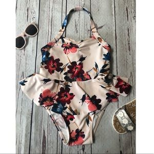 Old Navy white floral bathing suit
